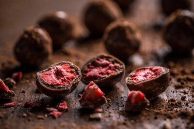 Картина Темные трюфели шоколада