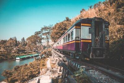 Картина Железная дорога смерти в Канчанабури, Таиланд