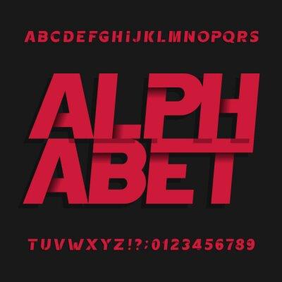 Декоративный алфавит векторный шрифт. Косой буквы символы и цифры. Книгопечатание на заголовки, плакаты, логотипы и т.д.
