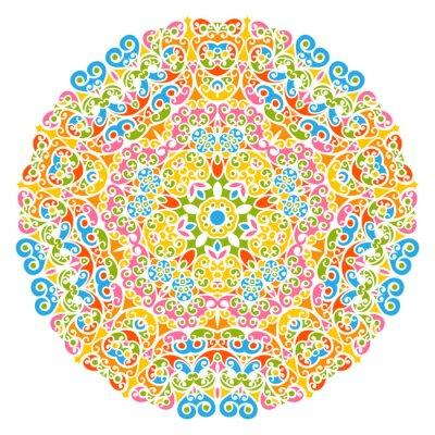 Картина Dekoratives вектор Элемент - Buntes, florales унд Abstraktes Mandala Muster, isoliert Ауф weißem Hintergrund. Красочные абстрактный декоративный узор - Декоративный мотив с элементами дизайна - Фон.