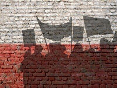 Картина Демонстрация в Польше