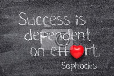 dependent on effort Sophocles