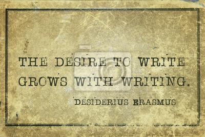 желание написать Erasmus