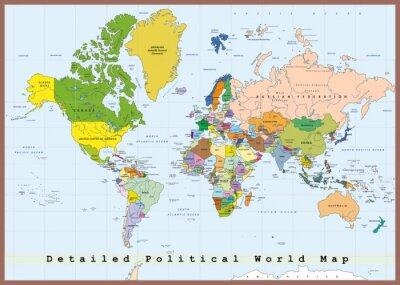 Картина Подробная политическая карта мира