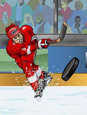 Картина Детройт хоккеист.