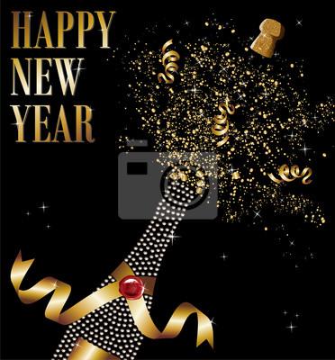 Бутылка Алмаз шампанское откупорили в Новый год