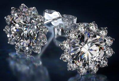 Картина Серьги с бриллиантами
