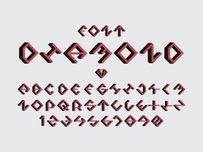 Diamond green font. Vector