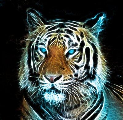 Картина Цифровой рисунок тигра