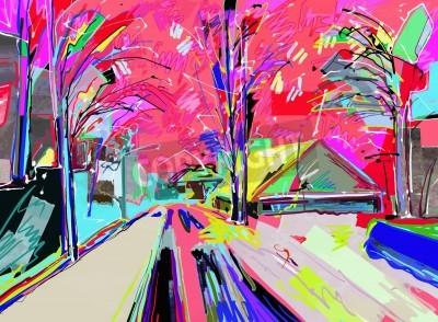 Картина Цифровая живопись зимний пейзаж