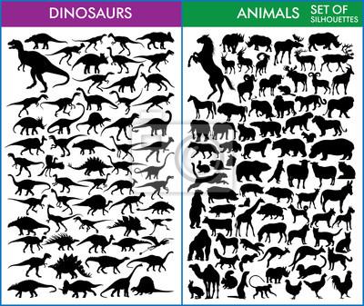 Картина Динозавры и животные