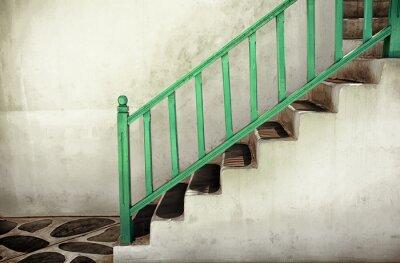 Картина Грязные лестницы с поручнями