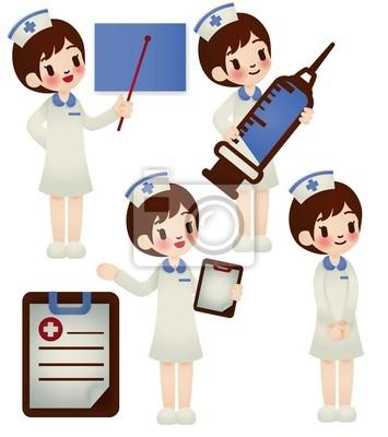 Врач и медсестра в различных позе