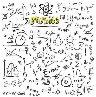 Картина Doodle фон физика формулы, текстуры и модели