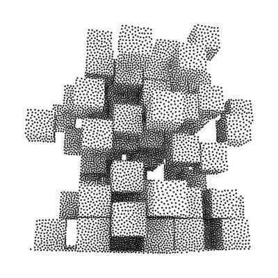 Картина Dotwork Полутона вектор Коробки Иконка