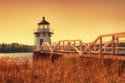 Картина Удвоение Лайтхаус-Пойнт в Новой Англии