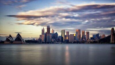 Картина Центр Сиднея на восходе