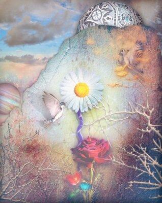 Картина Сны долина с цветами серии