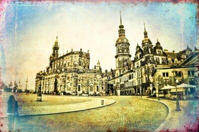 Картина Дрезден старинные иллюстрации
