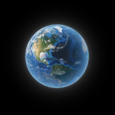 Картина Земля из космоса, показывая Северной и Южной Америки