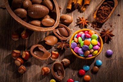 Картина Пасха фон шоколад
