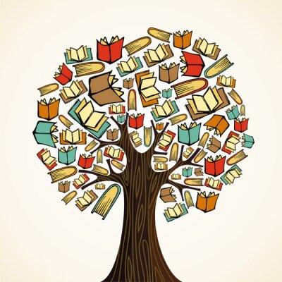 Концепция образования дерево с книгами