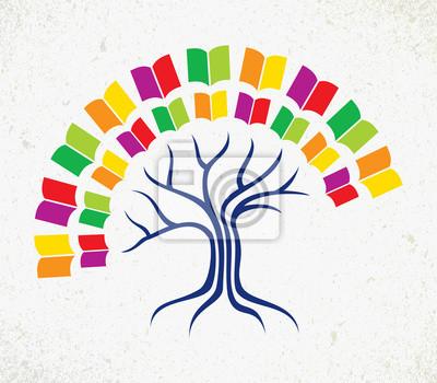 Образование дерево книга концепция