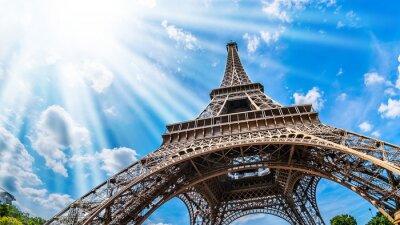 Картина Eiffelturm - Weitwinkel Aufnahme