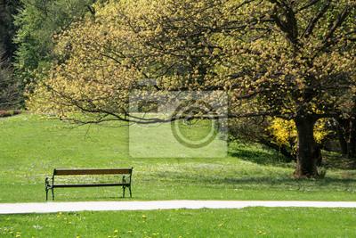 Einsame Parkbank