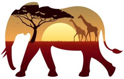 Картина Слон Пейзаж