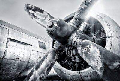 Картина двигатель самолета