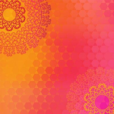 Картина Этническая и Красочный дизайн хной мандалы, очень сложные и легко редактируемый