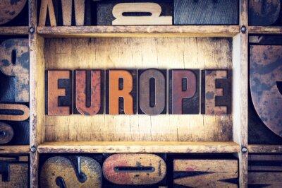 Картина Тип Европа Концепция Letterpress