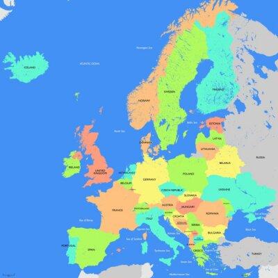 Картина Карта Европы подробно