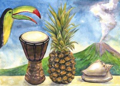Картина Акварельная живопись.