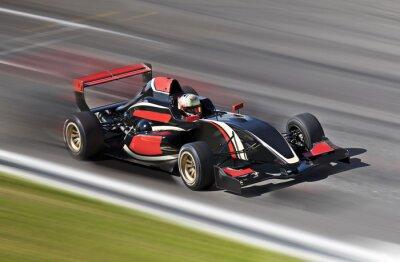 Картина F1 гоночный автомобиль гоночный трек на размытия движения