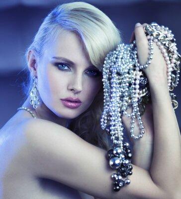 Картина Сказочный женщина с букетом jewelary
