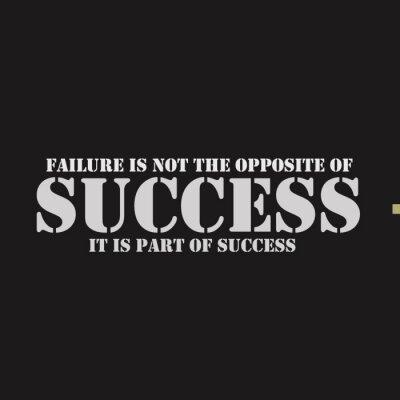 Картина Отказ не наоборот успеха. Она является частью успеха.