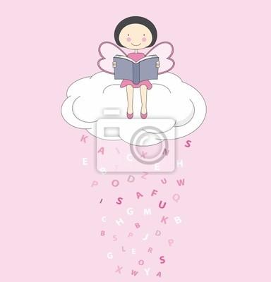 Хада leyendo ООН Libro encima де уна Nube