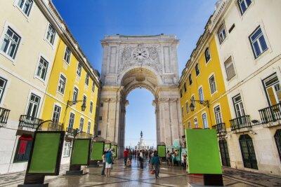 Картина Знаменитый свод улице Augusta расположен в Лиссабоне