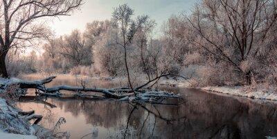 Картина фантастический зимний пейзаж