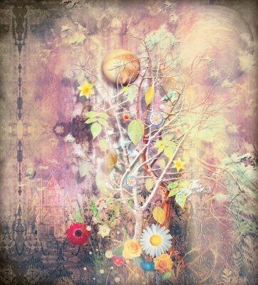 Картина Фантазия пейзаж с заколдованного дерева