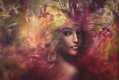 Картина фантазии женщина композитный