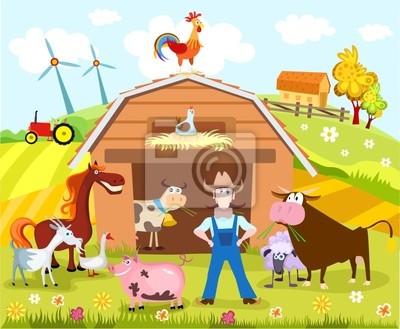Картина ферма