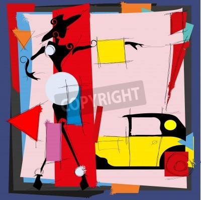Картина Мода иллюстрация в стиле кубизма