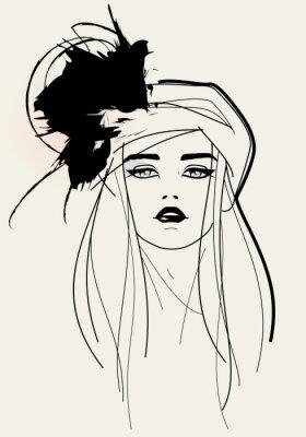 Картина Мода модели лицо / элегантный внешний вид