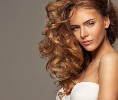 Картина Мода фото блондинка красоты с естественной макияж