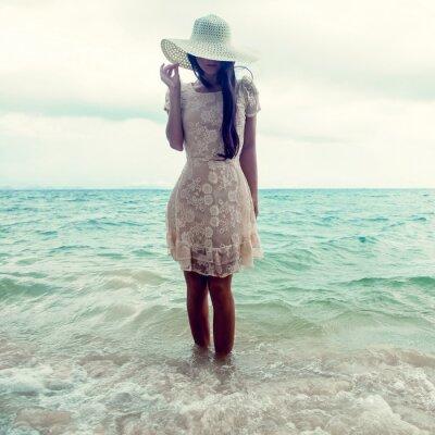 Картина мода Портрет девушки на море