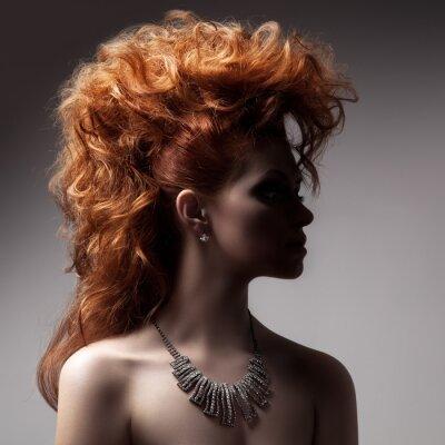 Картина Мода портрет женщина роскошного украшения.