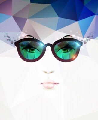 Картина моды женщина в очках